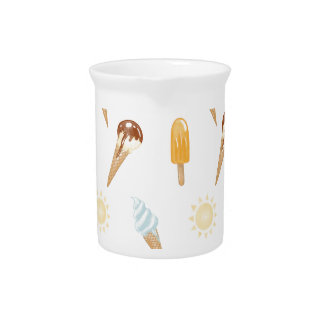 Summer ice cream beverage pitchers