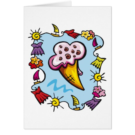 Summer Ice Cream Cone Card
