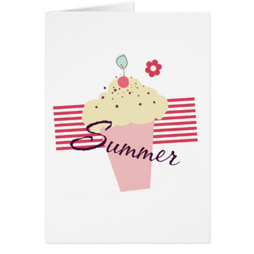 Summer Ice Cream Cone Greeting Card