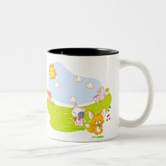 Summer Ice Cream fun Two-Tone Coffee Mug