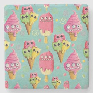 Summer Ice Cream Mix Stone Coaster