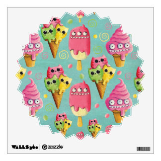 Summer Ice Cream Mix Wall Decal