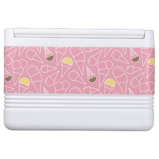 Summer Ice Cream Pattern Igloo Can Cooler