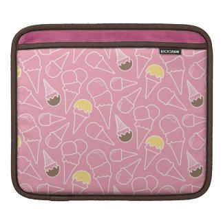Summer Ice Cream Pattern iPad Sleeves