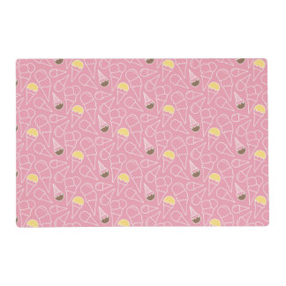 Summer Ice Cream Pattern Laminated Placemat
