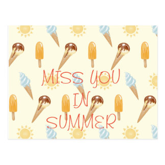 Summer ice cream postcard