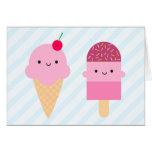 Summer Ice Cream Treats Card