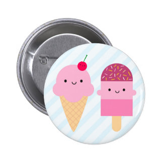 Summer Ice Cream Treats Pinback Button