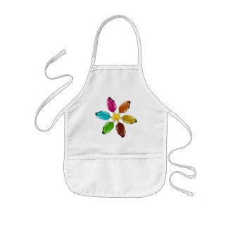 Summer ice cream with a smiling sun kids' apron