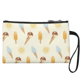 Summer ice cream wristlet wallet