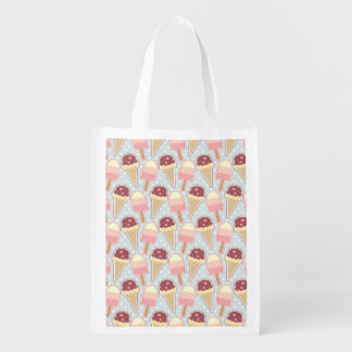 Summer Ice Creams Grocery Bag