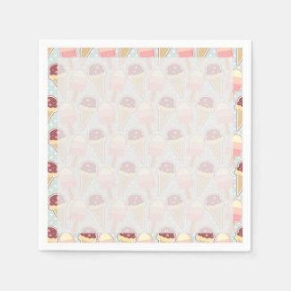 Summer Ice Creams Paper Napkin
