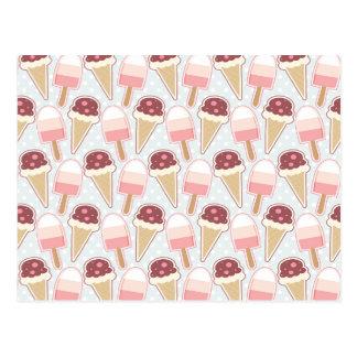 Summer Ice Creams Postcard