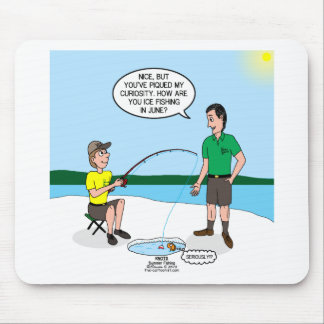 Summer Ice Fishing Mouse Pad