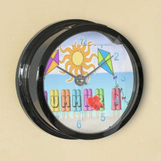 Summer - Ice Pops Aqua Clock