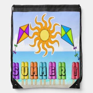 Summer - Ice Pops Drawstring Backpack