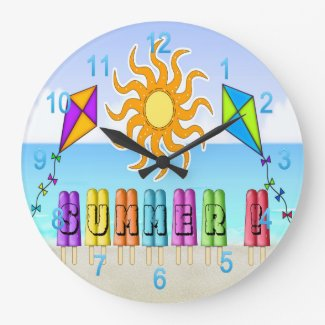 Summer - Ice Pops Round Wall Clock