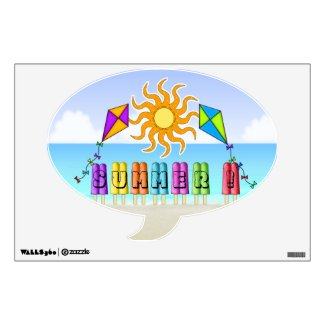 Summer - Ice Pops Speech Bubble Wall Decal