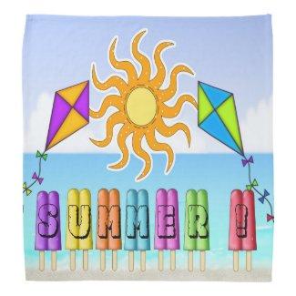 Summer - Ice Pops Square Bandana