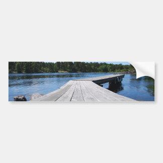Summer idyll on a lonely Swedish fjord Bumper Sticker