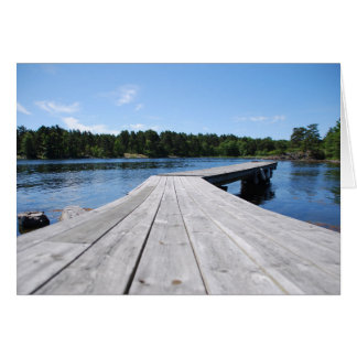 Summer idyll on a lonely Swedish fjord Card