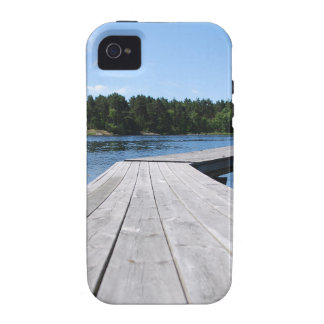 Summer idyll on a lonely Swedish fjord Case-Mate iPhone 4 Case