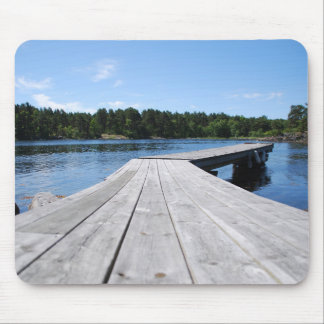 Summer idyll on a lonely Swedish fjord Mouse Pad