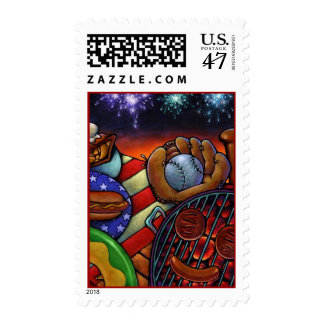 SUMMER IN AMERICA Stamps Baseball Grilling Picnics