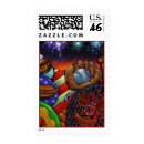 Summer in America Stamp - Summertime in the USA postage stamp... baseball, apple pie, tailgate partys, grilling, picnics, hotdogs, fireworks, Red, White, & Blue!!