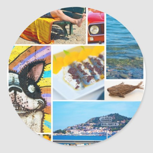 Summer in Catalonia by Cat Brown. Classic Round Sticker