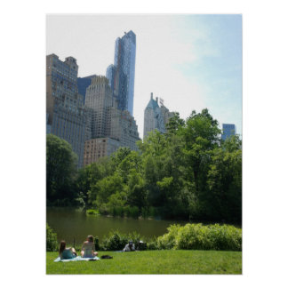 Summer in Central Park - New York City - Poster