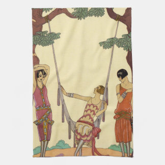 Summer in France Art Deco Kitchen Towel