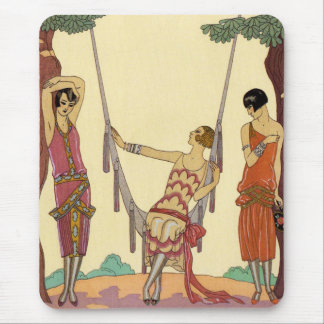 Summer in France Art Deco Mouse Pad