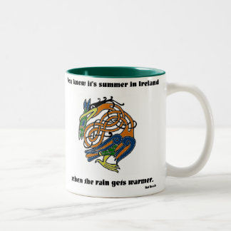 Summer in Ireland Two-Tone Coffee Mug