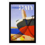 Summer In Italy Travel Poster