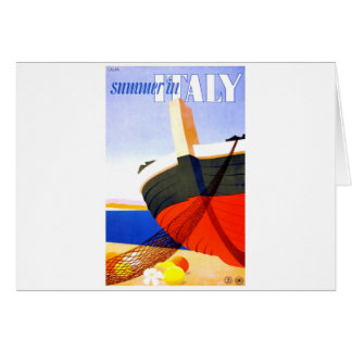 Summer in Italy Vintage Travel Card