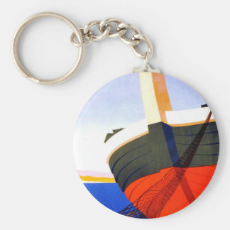 Summer in Italy Vintage Travel Keychain