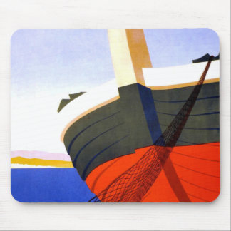Summer in Italy Vintage Travel Mouse Pad