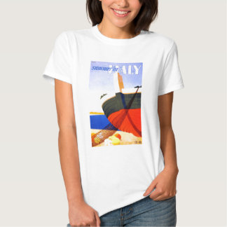 Summer in Italy Vintage Travel Tee Shirt