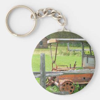 Summer In Maine Basic Round Button Keychain