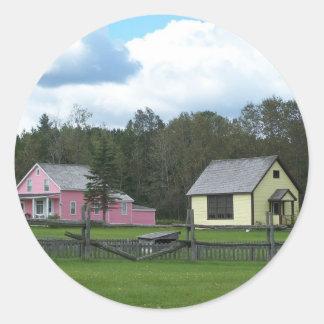 Summer In Maine Classic Round Sticker