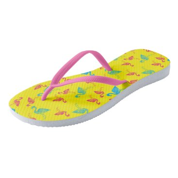 Beach Themed Summer in Miami Flip Flops