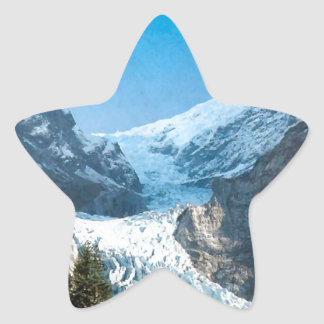 Summer in the mountains, glacier on the Jungfrau Stickers