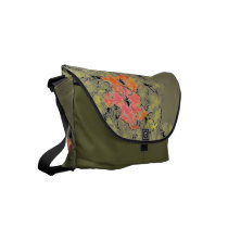 Summer Into Fall Wildflowers Small Messenger Bag