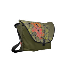 Summer Into Fall Wildflowers Small Messenger Bag at Zazzle