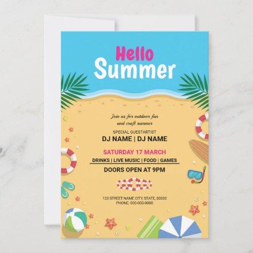 Summer Invitation Flyer