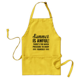 Summer Is Awful Adult Apron