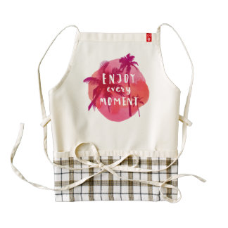 Summer is calling! Enjoy Every Moment. Zazzle HEART Apron