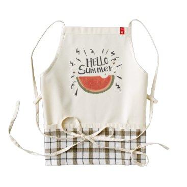 produkto Summer is calling! Hello Summer. Watermelon. Zazzle HEART Apron