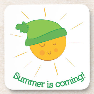 Summer is Coming Drink Coaster